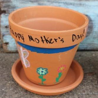 handpainted flower pots