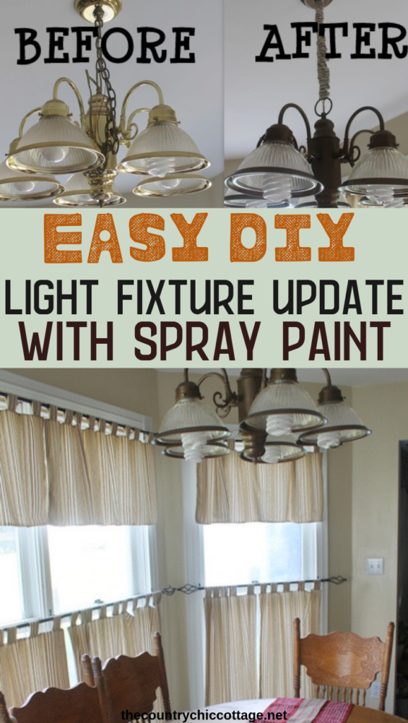 Learn how to spray paint a light fixture to give it an entirely new look! An easy DIY project that can be completed in a day to spruce up any room! #diy #lighting #homedecor #decor