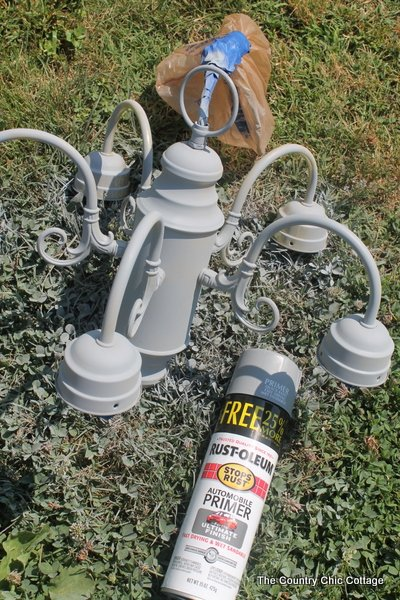 Learn how to spray paint light fixtures with this super simple tutorial. A quick and easy low cost makeover that anyone can do!