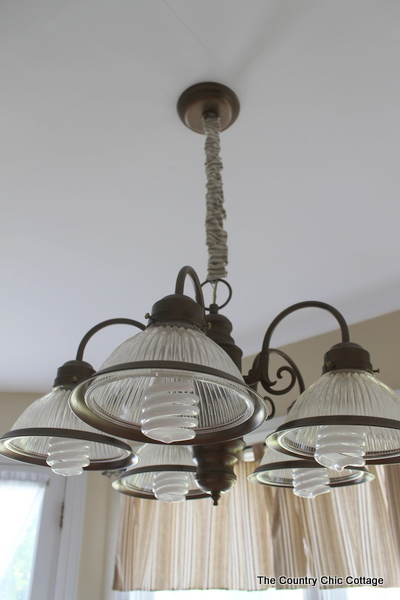How to spray paint your light fixtures the country chic cottage i am off to enjoy my new light fixture yes i have so many more in my home to do but i can do this yall be sure to bookmark this tutorial aloadofball Images