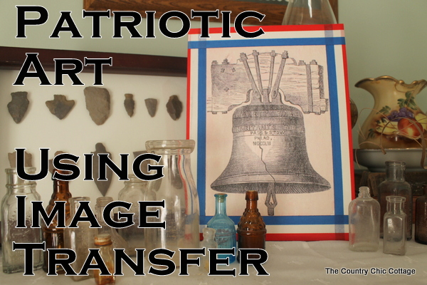 patriotic art using image transfer to canvas