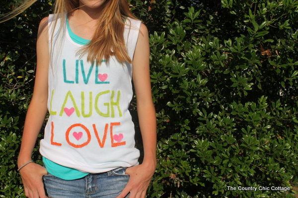 DIY Teen Shirts with Elmers Painters Paint Markers