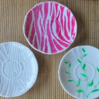 Painted Plates and Vases