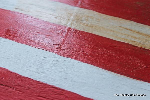pottery barn knock off american flag