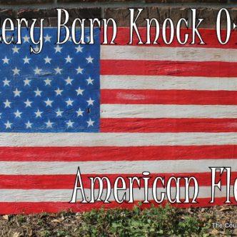 American Flag Decor — Pottery Barn Knock Off