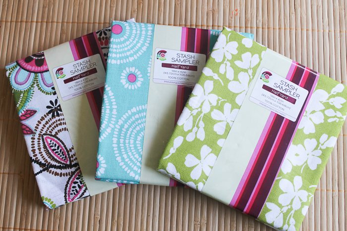These pre-cut fabric samplers from Walmart are perfect for your decorated mason jars