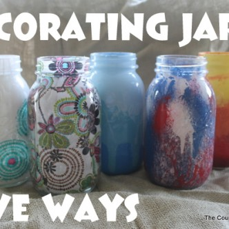 Decorating Jars Five Ways with @plaidcrafts #walmartplaid