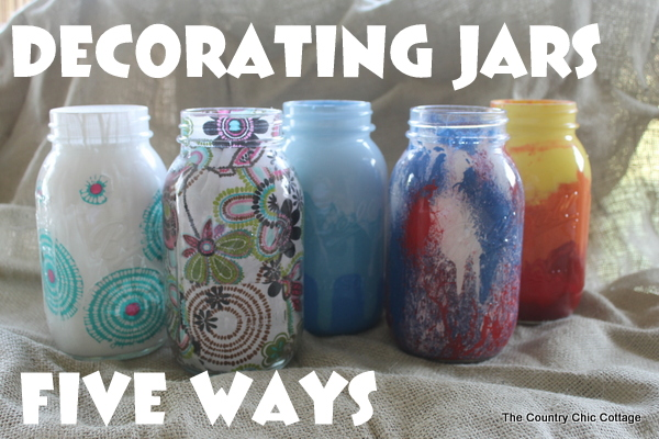 How To Decorate Glass Jars Simple Decorating Jars Five Ways With Plaidcrafts #walmartplaid  The Inspiration