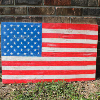 large plywood flag for indoors or out