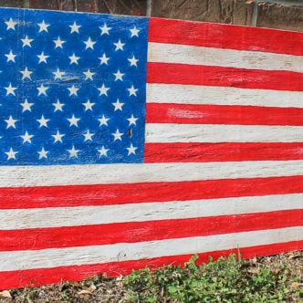 how to make a wooden american flag