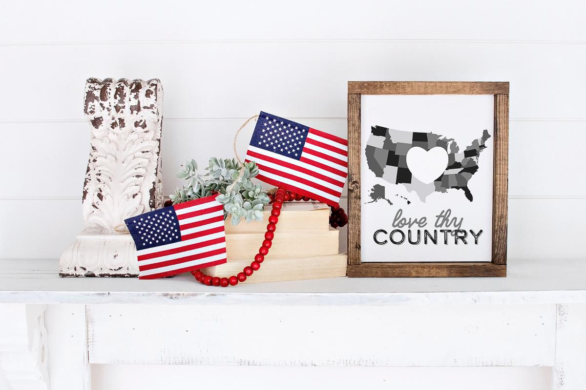 black and white USA art