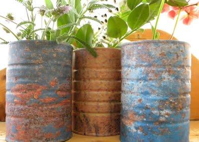 using rustic metal in home decor
