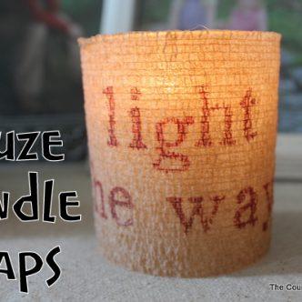 Gauze Candle Wraps