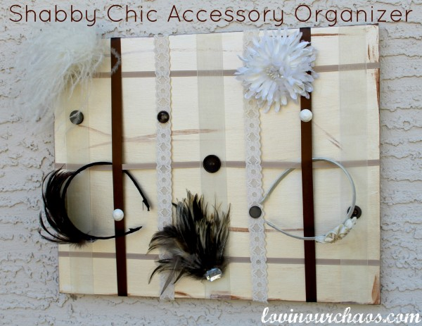 Make this shabby chic accessory holder with just a few supplies!