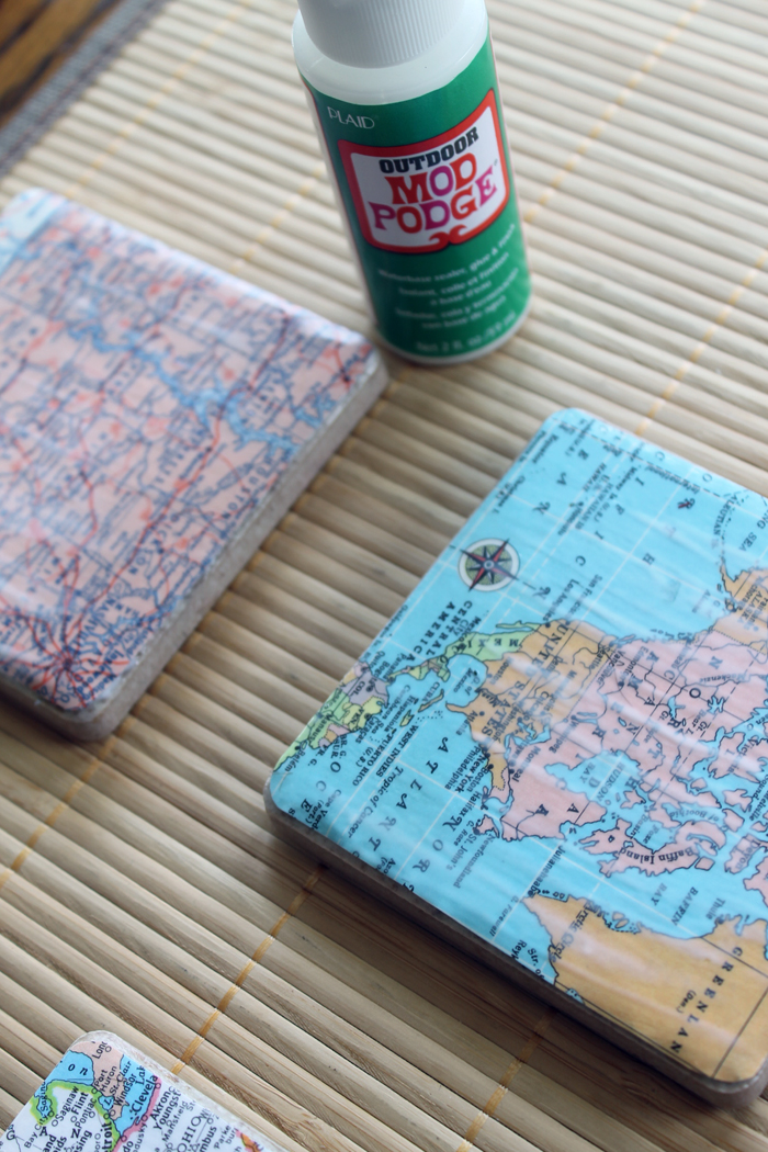 outdoor mod podge for coasters