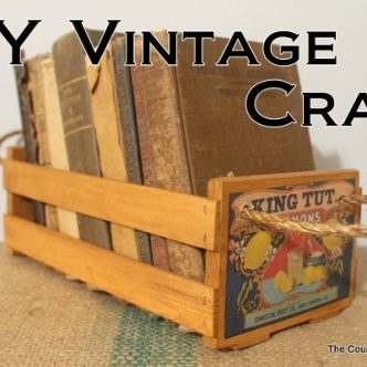 DIY Vintage Crate with @TheHomeDepot