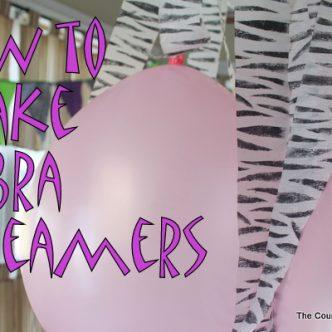 How to Make Zebra Streamers