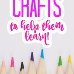 These learning crafts are perfect for kids! Keep them busy this summer with crafts that will keep their mind working! #kidscrafts #crafts #craftideas #learning