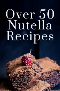 Over 50 Nutella recipes for everything from cookies to cheesecake to brownies and so much more! Make these Nutella dessert recipes today! #nutella #dessert #recipe