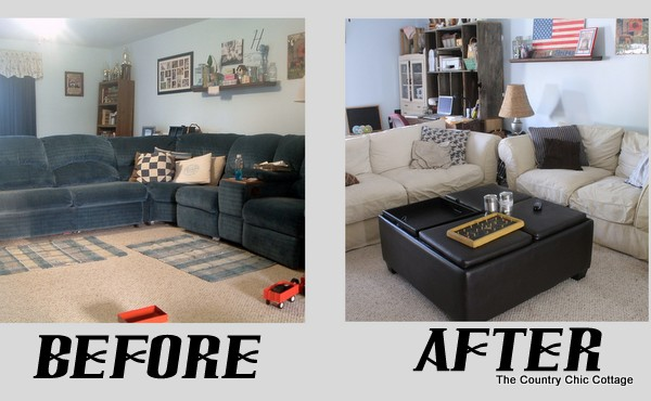 This Is After We Had The Couches For A While. I Had Already Recovered The  Pillows And Bought An Ottoman. I Love, Love, Love How Just The Change Of  Furniture ...