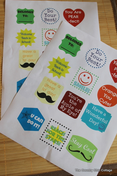 lunch box notes for back to school