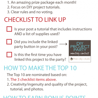Come join in the DIY Project Party!