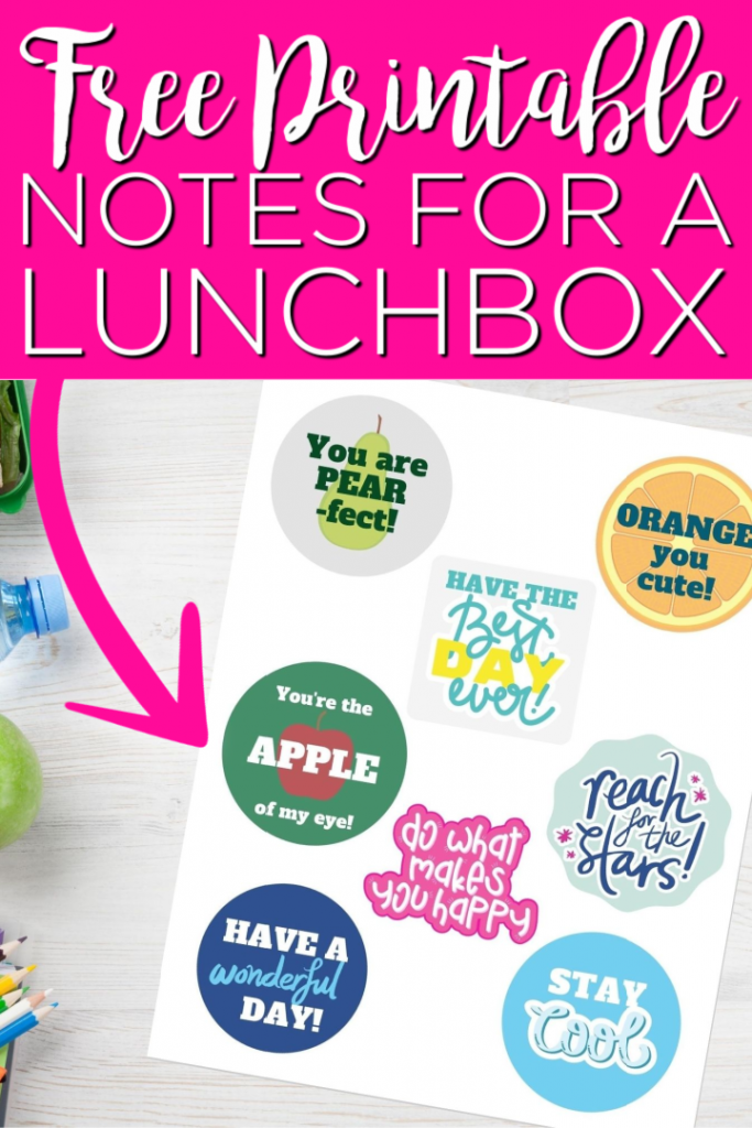 These free printable lunchbox notes are perfect for adding to your kids' lunches! Add these encouraging words so they see them during their school day! #lunchbox #school #printable #freeprintable #notes #encouragement