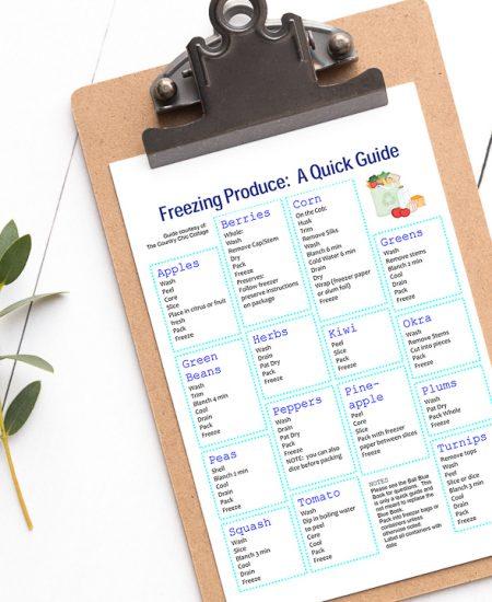 free kitchen printable guide