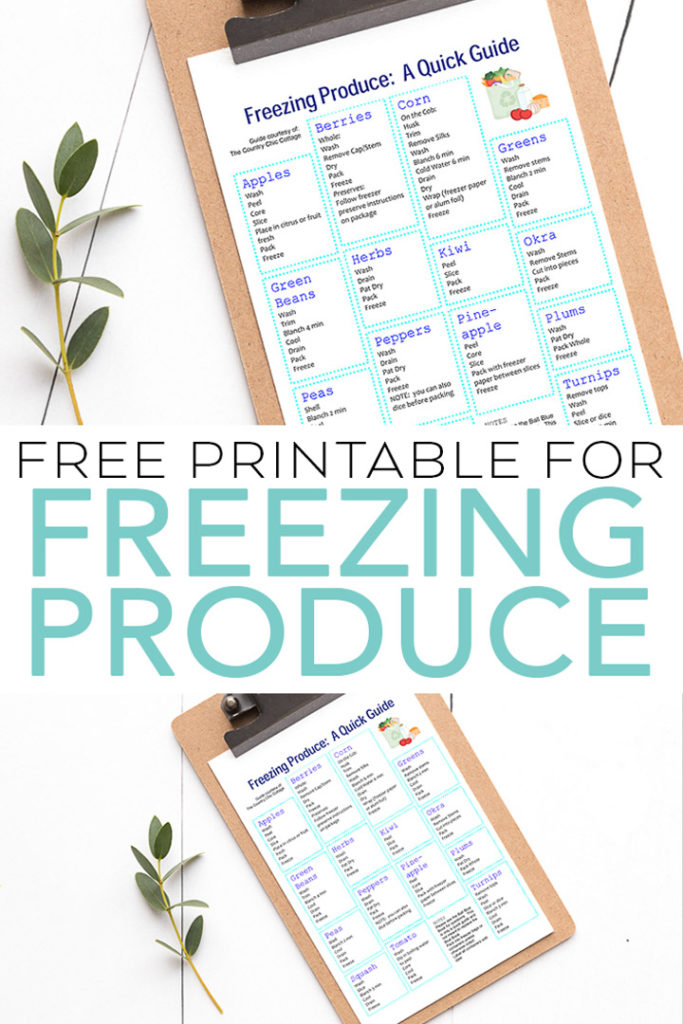 Our quick guide for freezing produce is perfect for keeping handy in the kitchen! Freeze that summer freshness from fruits and vegetables! #kitchen #summer #garden #gardening #freezer