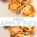 Make these mini apple pies for all of your fall gatherings! These are great for fall parties, tailgates, and even Thanksgiving dinner! #fall #thanksgiving #pie #apples #applepie #pierecipe #dessert