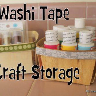 Washi Tape Craft Storage