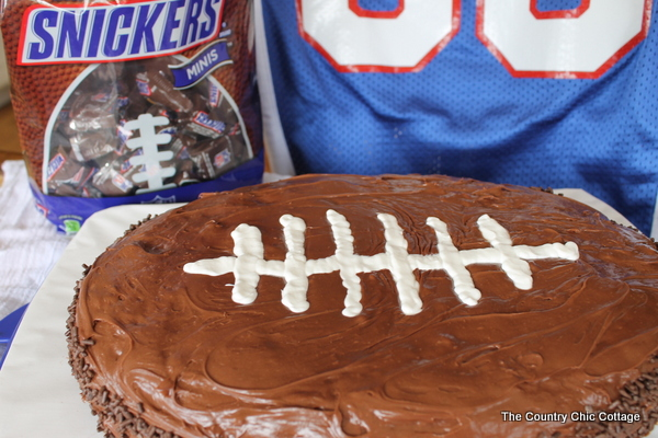 recipe for football shaped cake