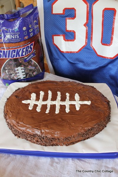 football shaped cake