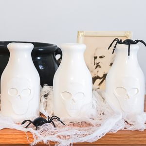 how to make a halloween centerpiece with a vase craft