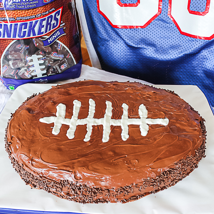 how to make a football cake