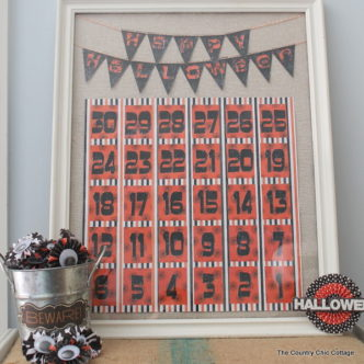 Halloween Countdown Calendar with @plaidcrafts #MPHalloween