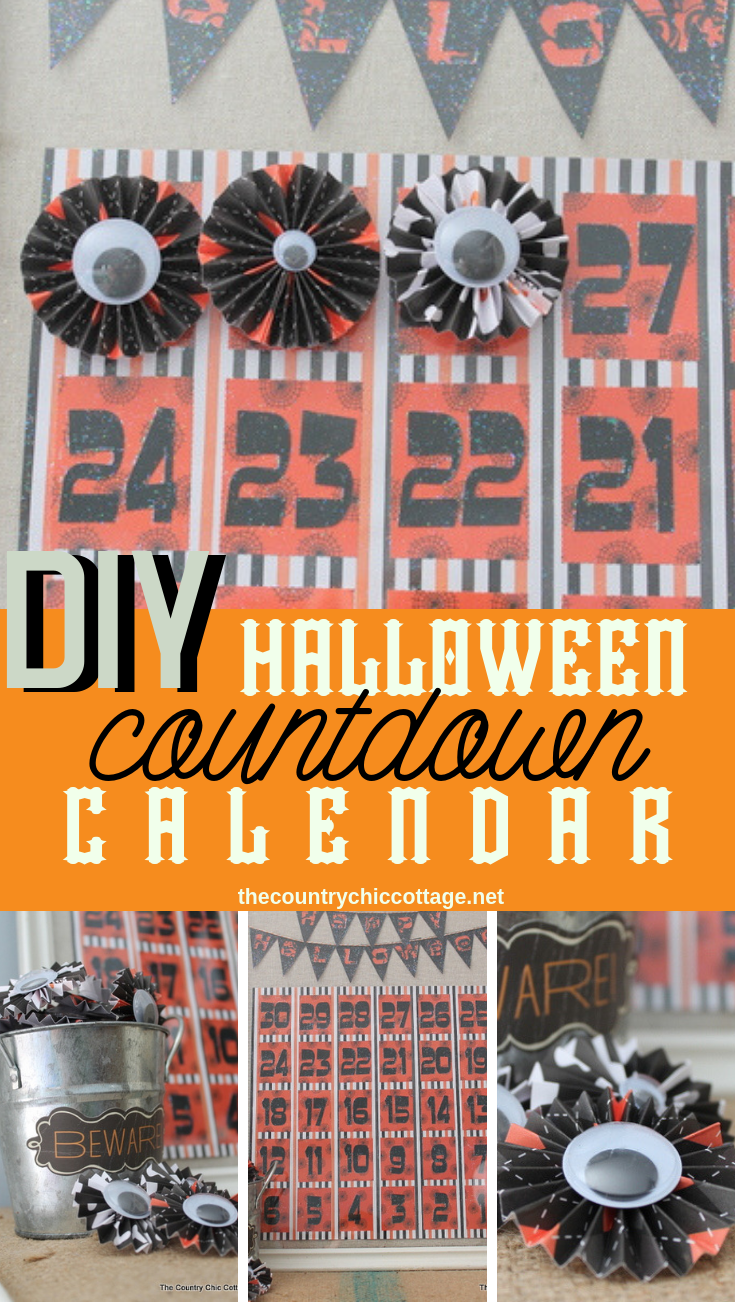 Make this DIY Halloween countdown calendar with your Cricut and a few other supplies! A cute way to countdown the days to Halloween! #plaidcrafts #cricut #cricutmade #halloween #countdown