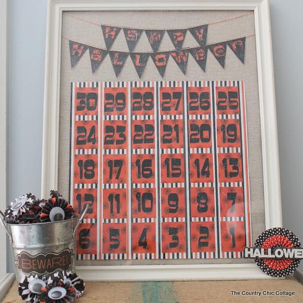 cricut halloween countdown calendar