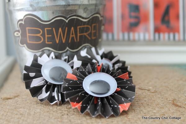 googly eyes on pinwheels