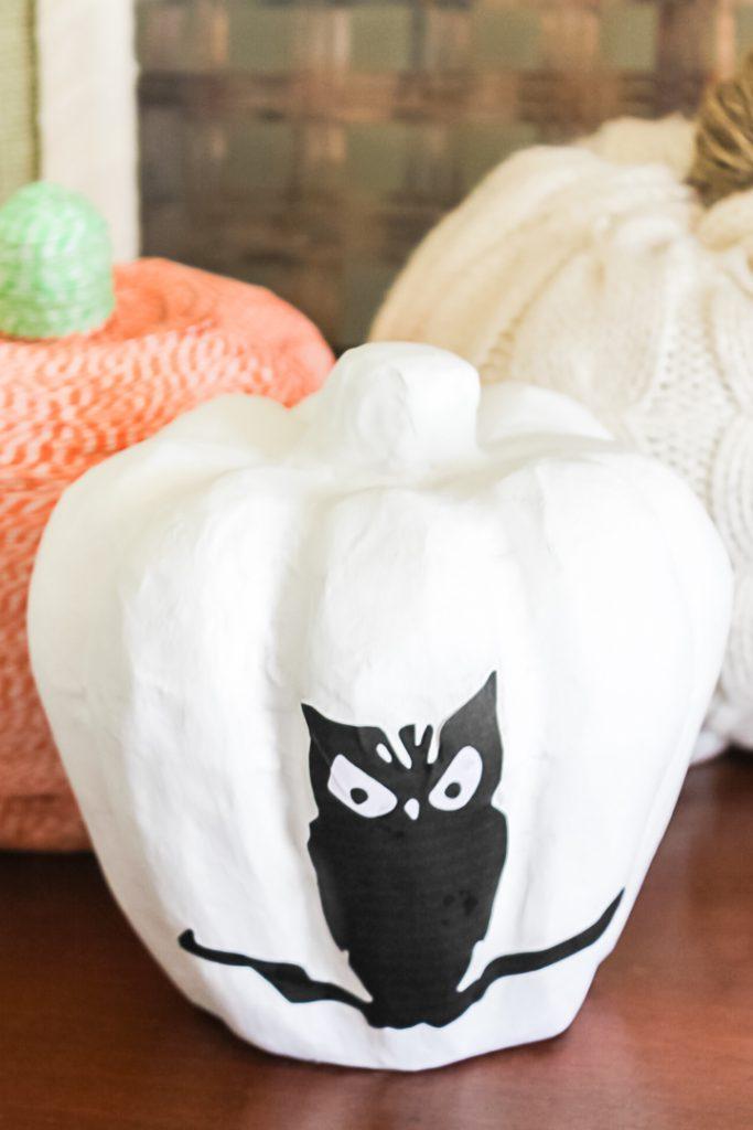 diy decoupage pumpkin idea
