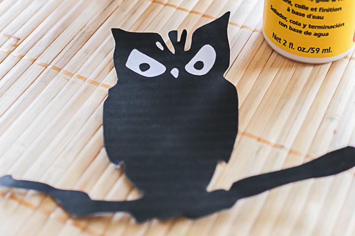 scary owl silhouette