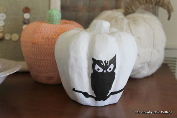 Scary Silhouette Pumpkin The Country Chic Cottage
