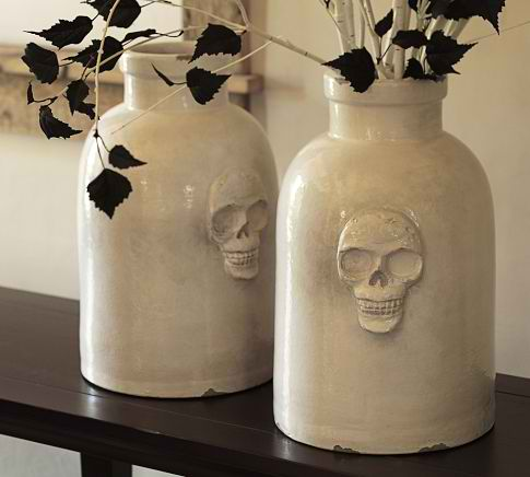 Pottery Barn Skull Vase Knock Off The Country Chic Cottage
