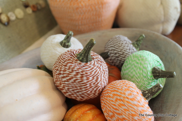 bakers twine pumpkins fall decor