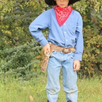 Cowboy Halloween Costume from the Thrift Store