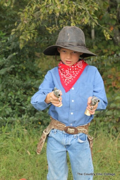 cowboy halloween costume from thrift store  sc 1 st  The Country Chic Cottage & Cowboy Halloween Costume from the Thrift Store - The Country Chic ...