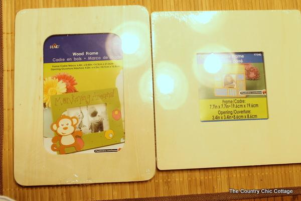 scrapbook embellishments to desk picture frames