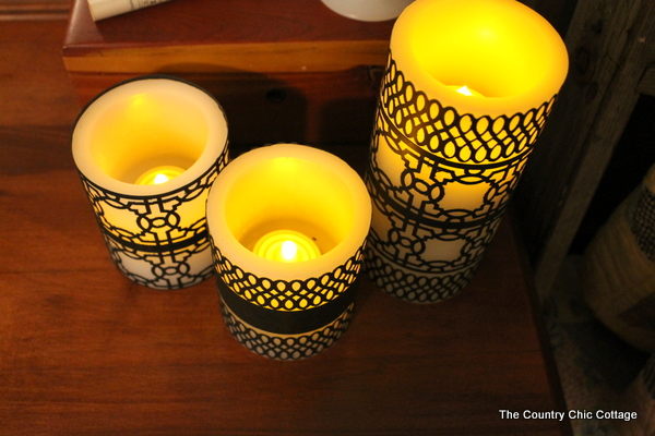 diy paper candle wraps