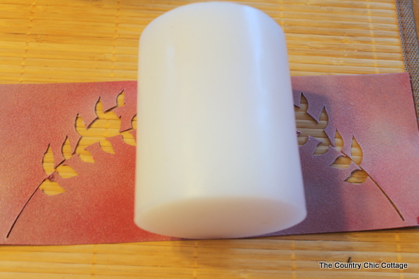 Diy Paper Candle Wraps The Country Chic Cottage