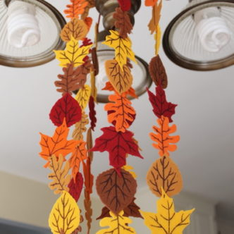 Fall Felt Leaf Garland at Crafts Unleashed